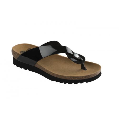 Scholl KENNA černé zdravotní pantofle