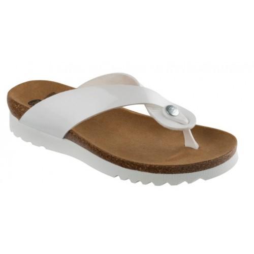 Scholl KENNA bílé zdravotní pantofle