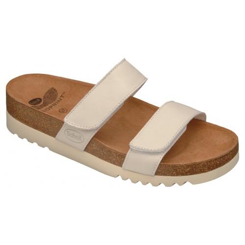 Scholl LUSAKA bílé zdravotní pantofle