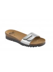 Scholl LUWIN stříbrné zdravotní pantofle