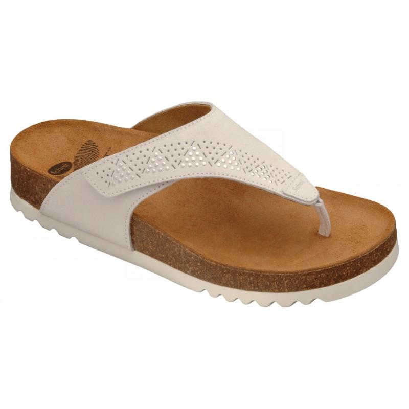 Scholl MASABE bílé zdravotní pantofle VÝPRODEJ 11e70bf312e