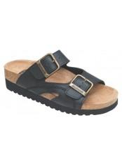 Scholl MOLDAVA WEDGE AD - černé zdravotní pantofle