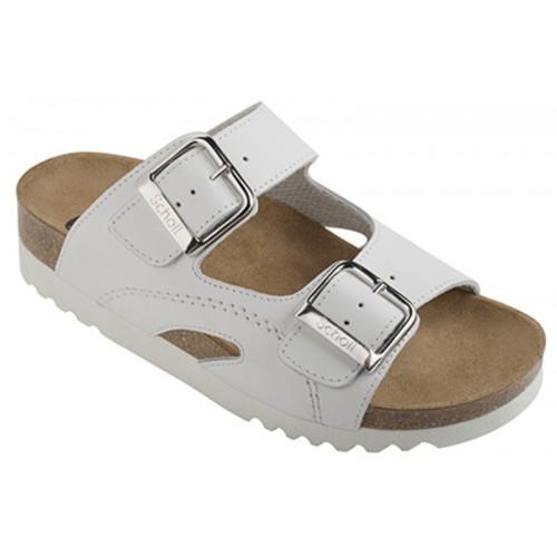 Scholl MOLDAVA WEDGE AD - bílé zdravotní pantofle