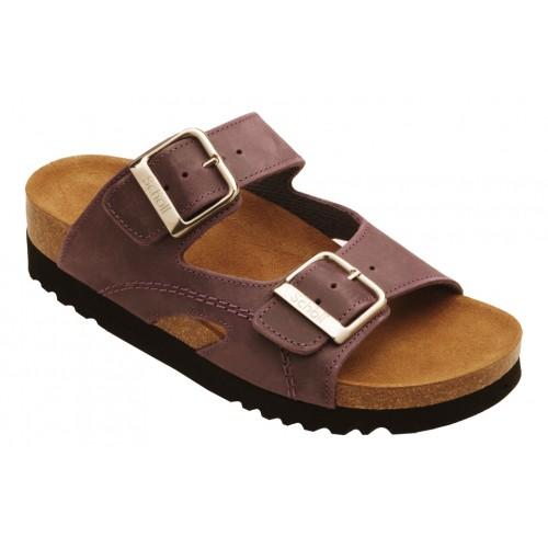 Scholl MOLDAVA WEDGE AD fialové zdravotní pantofle