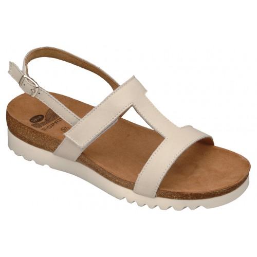 Scholl NEW LABA bílé zdravotní pantofle