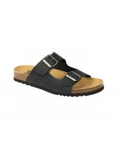 Scholl GERRY - černé zdravotní pantofle