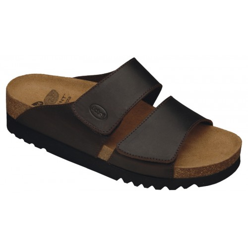 Scholl AALIM tmavě hnědé zdravotní pantofle
