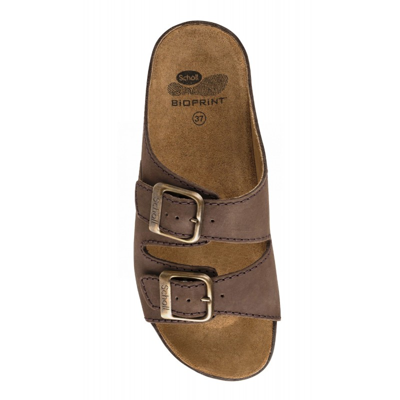 caa14419e0f3 Scholl AIR BAG - tmavě hnědé zdravotní pantofle