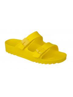 Scholl BAHIA - žluté zdravotní pantofle