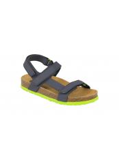 Scholl BENJI KID tmavě modré dětské zdravotní pantofle s páskem