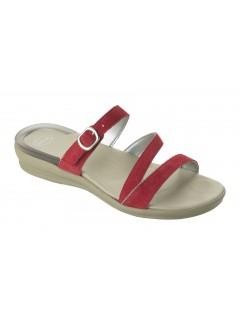 Scholl ELINOR červené zdravotní pantofle