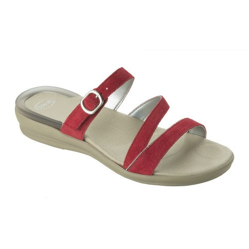 obuv Scholl ELINOR červené zdravotní pantofle