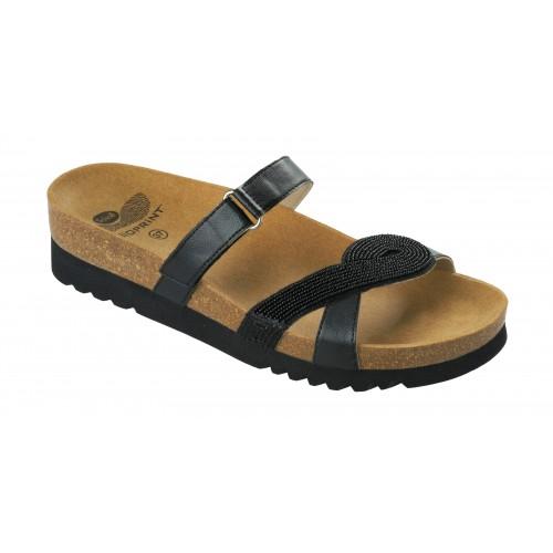 Scholl FIORILLA černé zdravotní pantofle