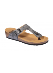 Scholl GANDIA stříbrné zdravotní pantofle