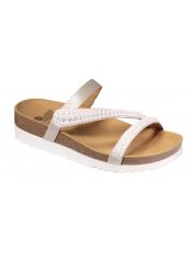 Scholl JOANNE - bílé zdravotní pantofle