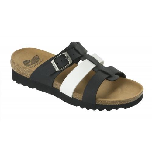 Scholl KALEA černé bílé zdravotní pantofle 387f82b599