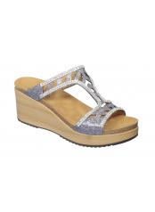 Scholl ELETTRA - cínová šedi pantofle