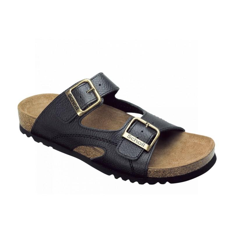 Scholl MOLDAVA AD - černé zdravotní pantofle 04bdb2ca22