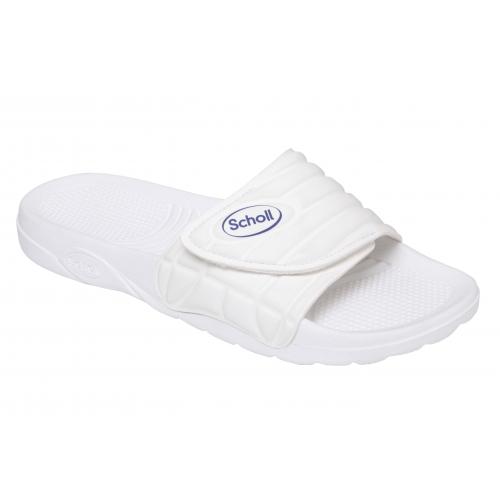 Scholl NAUTILUS - bílé zdravotní pantofle 093beebb49