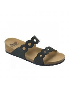 Scholl ODELIA tmavě modré zdravotní pantofle
