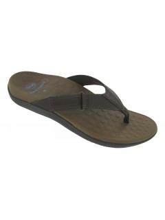 Scholl RYDER tmavě hnědé zdravotní pantofle