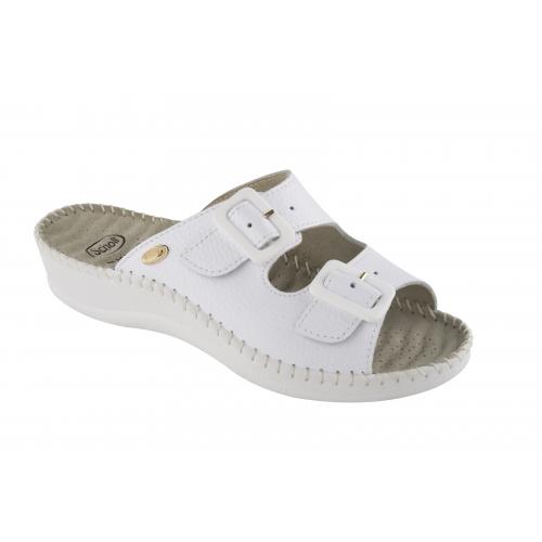 Scholl Weekend bílé zdravotní pantofle 531ea13221