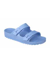 Scholl BAHIA - světle modré zdravotní pantofle