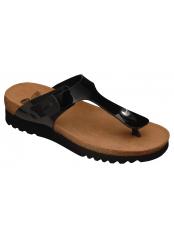 Scholl BOA VISTA UP černé zdravotní pantofle