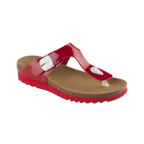 Scholl BOA VISTA UP červené zdravotní pantofle