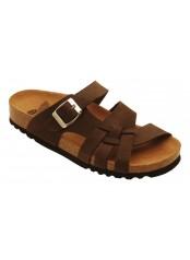 CARSOL tmavě hnědé zdravotní pantofle