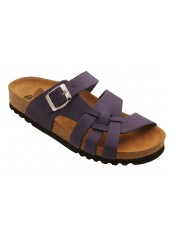 CARSOL tmavě purpurové zdravotní pantofle