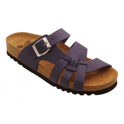Scholl CARSOL tmavě purpurové zdravotní pantofle