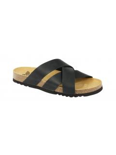 Scholl DAMSON černé zdravotní pantofle