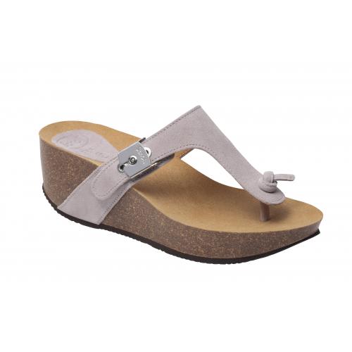Dámská zdravotní obuv Scholl EDNA 2.0 - světle šedé pantofle