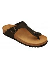 Scholl EVIS černé zdravotní pantofle