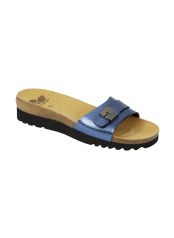 Scholl GINNI modré zdravotní pantofle