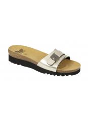 Scholl GINNI platinové zdravotní pantofle