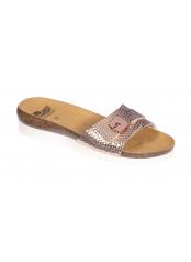 Scholl GINNI růžovozlaté zdravotní pantofle