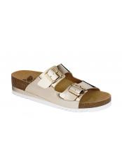 Scholl GLAM SS 2 zlaté zdravotní pantofle