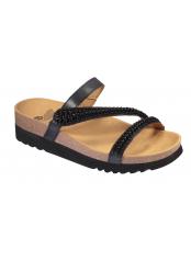 Scholl JOANNE - černé zdravotní pantofle
