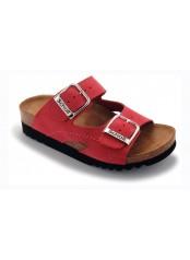 Scholl MOLDAVA AD - červené zdravotní pantofle