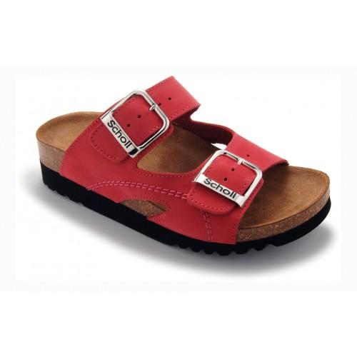 Scholl MOLDAVA AD červené zdravotní pantofle