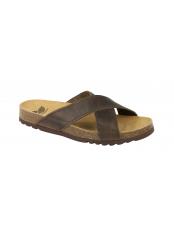 Scholl TANGOR tmavě hnědé zdravotní pantofle