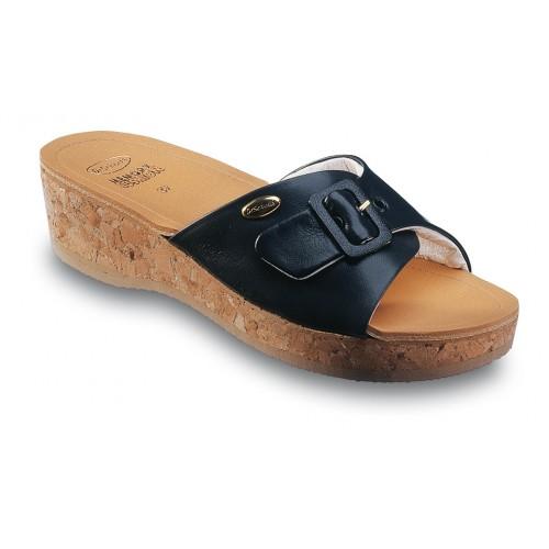 Scholl WAPPY tmavě modré zdravotní pantofle
