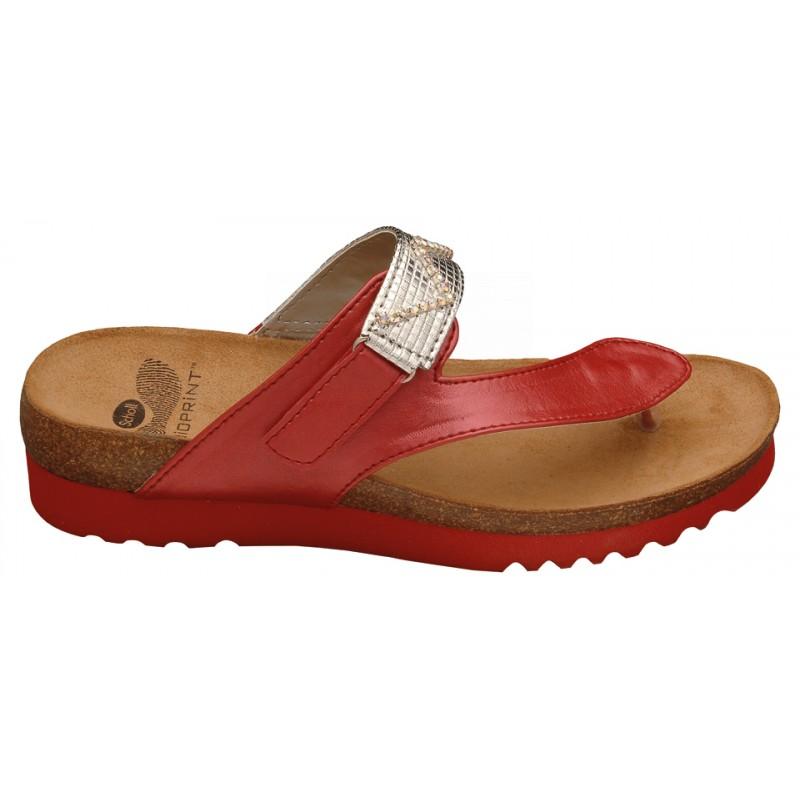 Scholl YOTA červené zdravotní pantofle VÝPRODEJ 21a69acb105