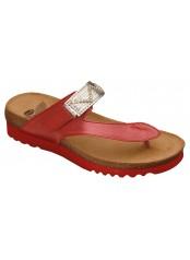 Scholl YOTA červené zdravotní pantofle VÝPRODEJ