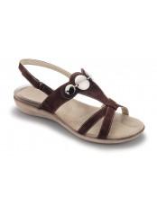 Scholl BELLVIEW tmavě hnědé sandále