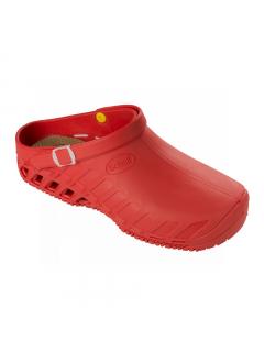 Scholl CLOG EVO červená pracovní obuv