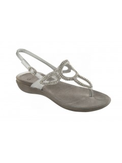 Scholl GLOSSY stříbrné zdravotní sandále