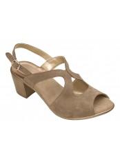 Scholl JOCELYN šedé semišové sandále